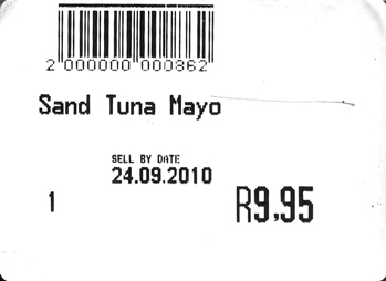 Tuna mayo sandwich expiring in 2010 AD
